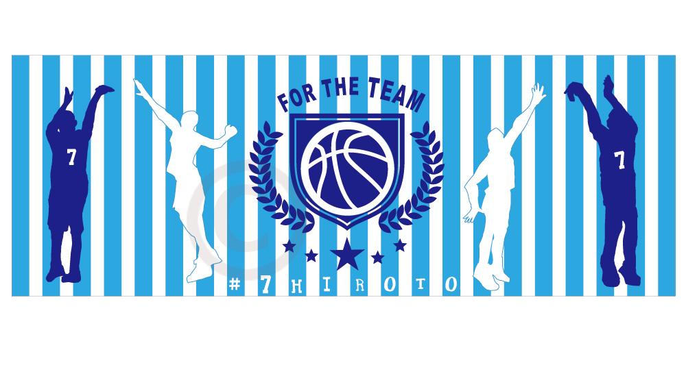 【sti-basketball002】バスケ02・インクジェットスポーツタオル(40×110cm)